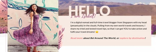 Blogger Profile - Isabel Leong - The Wise Traveller