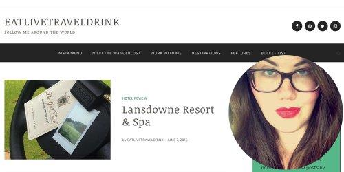 Travel Blogger: Nicki of Eat Live Travel Drink