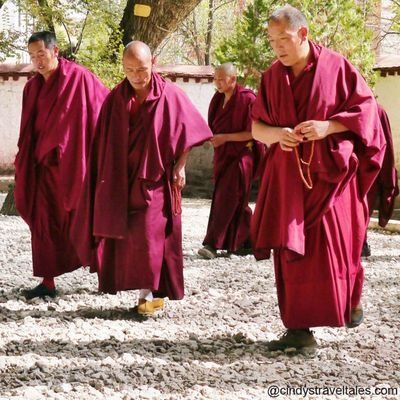 My Journey with His Holiness the Dalai Lama - The Wise Traveller - Senior Monks Preparing to Debate with Young Disciples at Sera Monastery