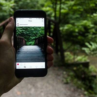 Top Travel Destinations from Instagrammers - The Wise Traveller - Instagram on Phone