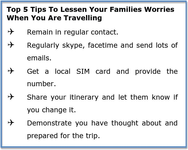 5 Tip To Lessen Your Family's Worries When Travelling - The Wise Traveller