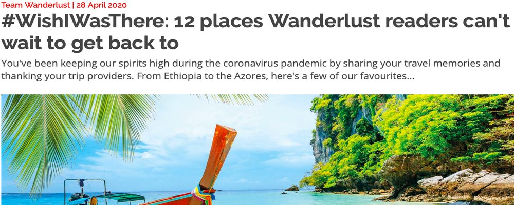 April Monthly Round Up - The Wise Traveller - Wanderlust