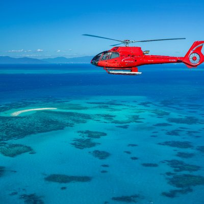 Barrier Reef Helicopter Ride - Image: Barrier Reef Australia
