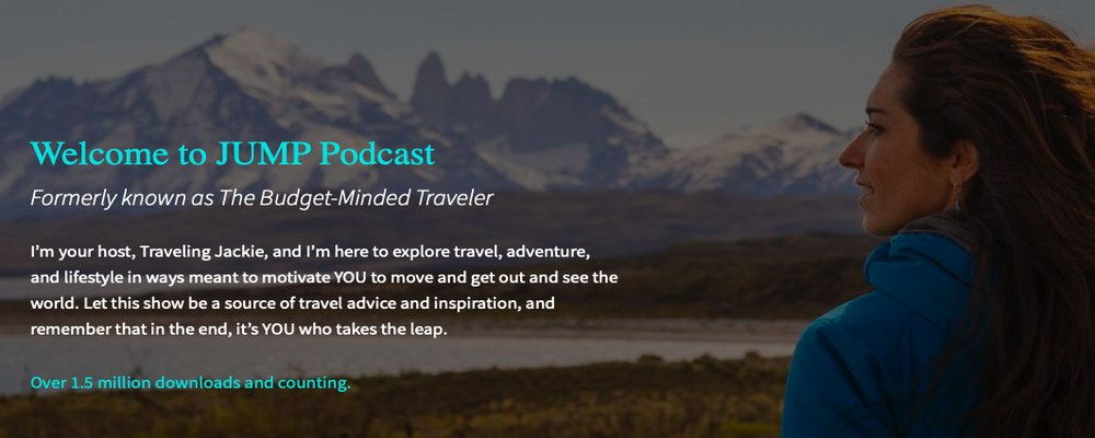Best Podcasts for Inspiring Travel - The Wise Traveller - JUMP