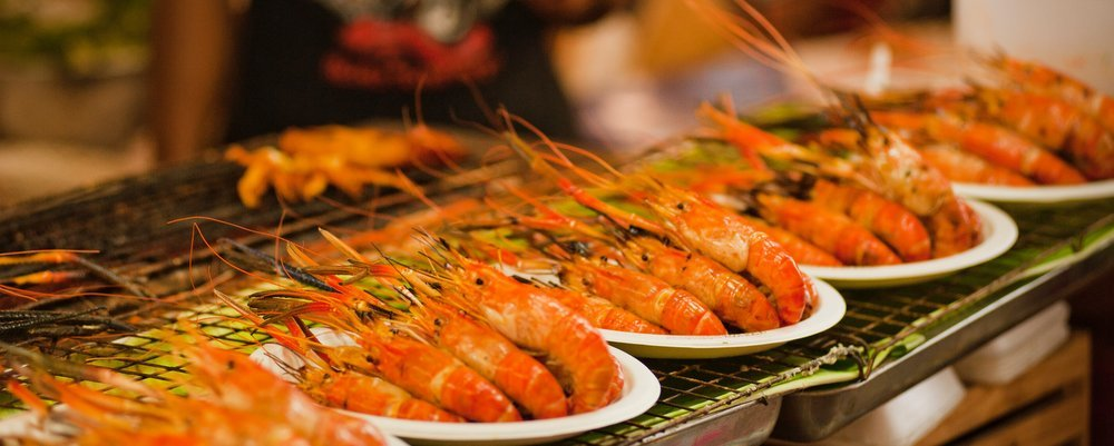 How to Avoid Getting Sick When Eating Local Foods - The Wise Traveller - Prawns