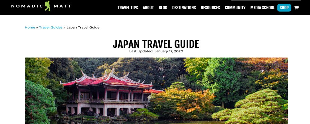 Monthly Roundup – Japan Olympics - The Wise Traveller - Nomadic Matt