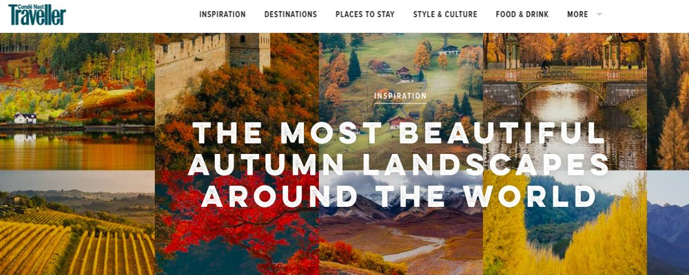 Monthly Roundup - September 2019 - The Best Autumn Scenery Around the World - The Wise Traveller - Conde Nast