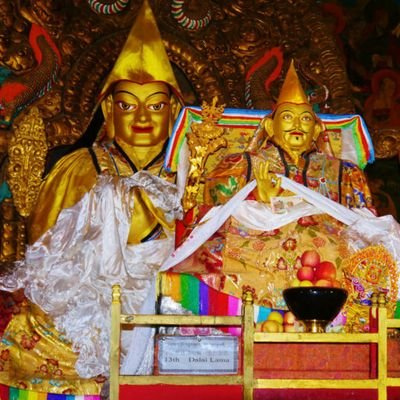 My Journey with His Holiness the Dalai Lama - The Wise Traveller - The Golden Stupa Tomb of the 13th Dalai Lama