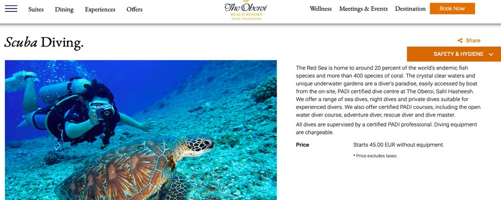 Retreats to Dive Into—The Best Diving Resorts in the World - The Wise Traveller - The Oberoi
