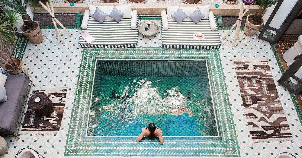 Hotel review riad yasmine marrakech morocco for Riad marrakech piscine chauffee