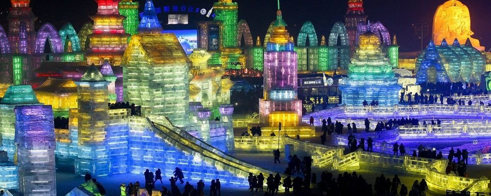 Top 10 Winter Festivals - The Best Winter Festivals Around the World - The Wise Traveller - Harbin Ice Festival, China
