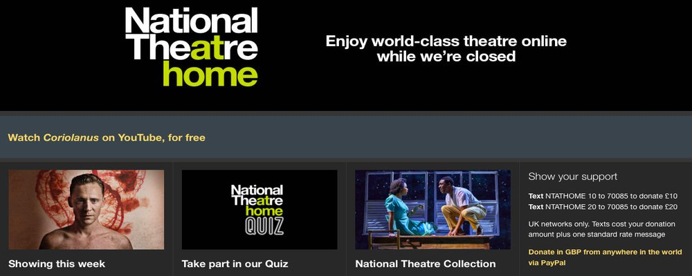 Virtual Culture Tours - The Wise Traveller - National Theatre At Home